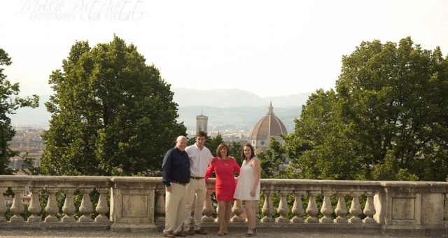 Family Photoshoot overlooking Florence, Italy
