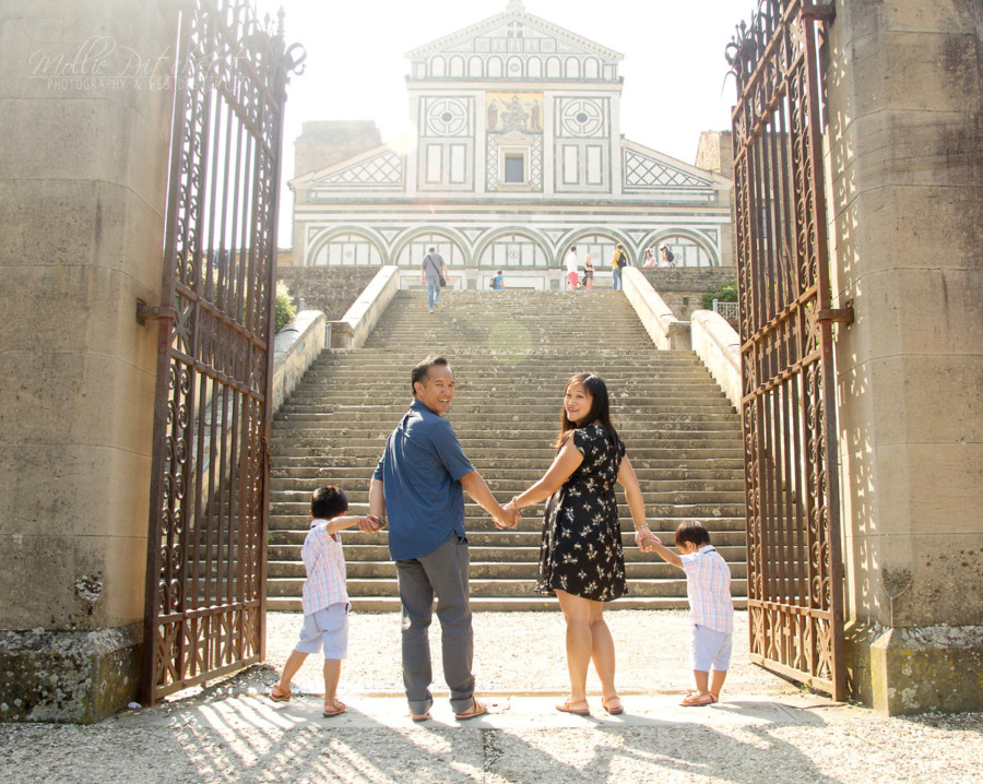 Family Photoshoot near Piazzale Michelangelo, Florence, Italy