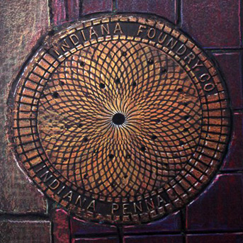 Art by Dwight - Pittsburgh Street Art - Manhole Rubbing