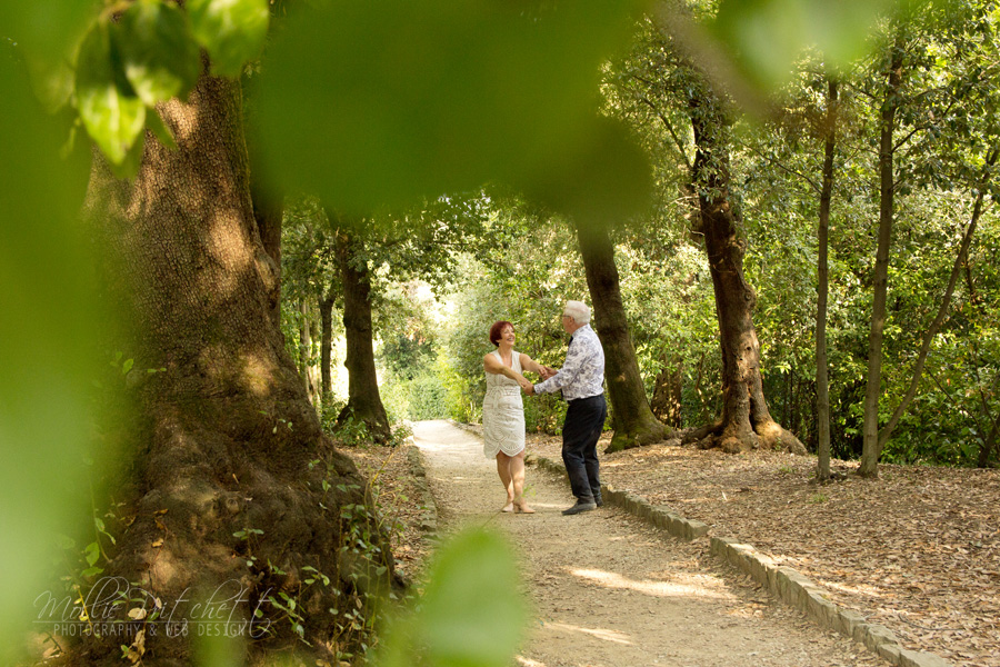 Photoshoot in Boboli Gardens Florence Italy